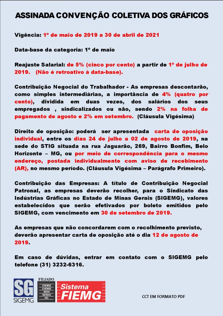 Convenção Coletiva dos Gráficos - 2019-2021